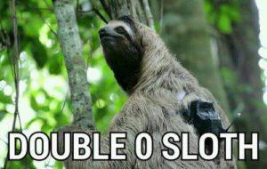 Sloth Meme - Double 0 Sloth.
