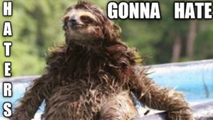 Sloth Meme - Haters Gonna Hate.