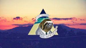 Sloth Meme - Live Slow, Die Whenever.