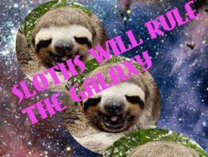 Sloth Meme - Sloths Will Rule The Galaxy.