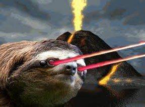 Sloth Meme - Sloth With Lazer Eyes.