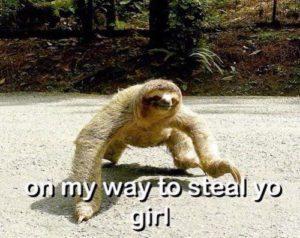 Sloth Meme - On My Way To Steal Yo Girl.